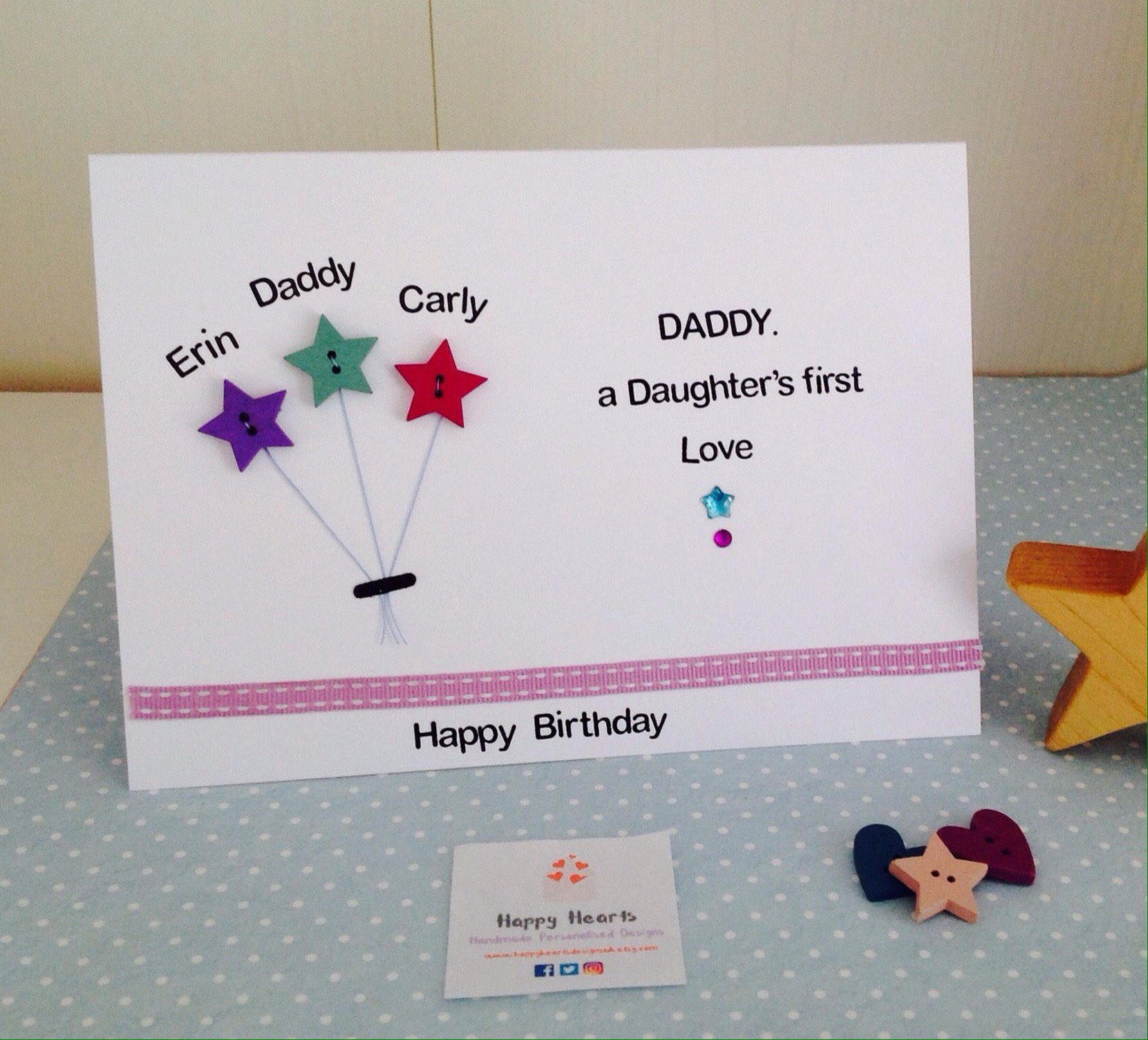 Daddy A Daughters First Love Handmade Personalised