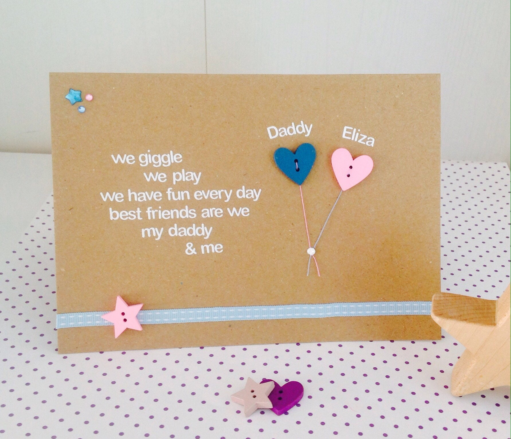 Personalised Daddy Card Birthday And