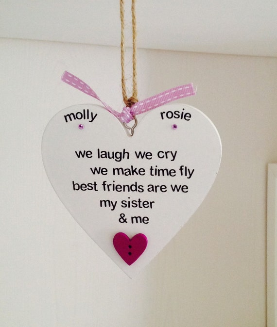 Personalised Best Friend Sister Quote Handmade Plaque Etsy
