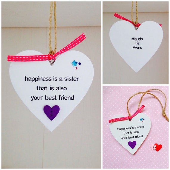 Personalised Sister Quote Handmade Plaque Gift For Sisters Etsy