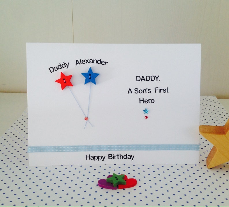 Daddy A Sons First Hero Personalised Handmade
