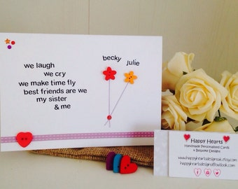 Sister quote card | Etsy