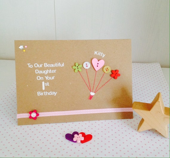 Personalised Birthday Cards 1st 2nd 3rd 4th 5th Birthday Etsy