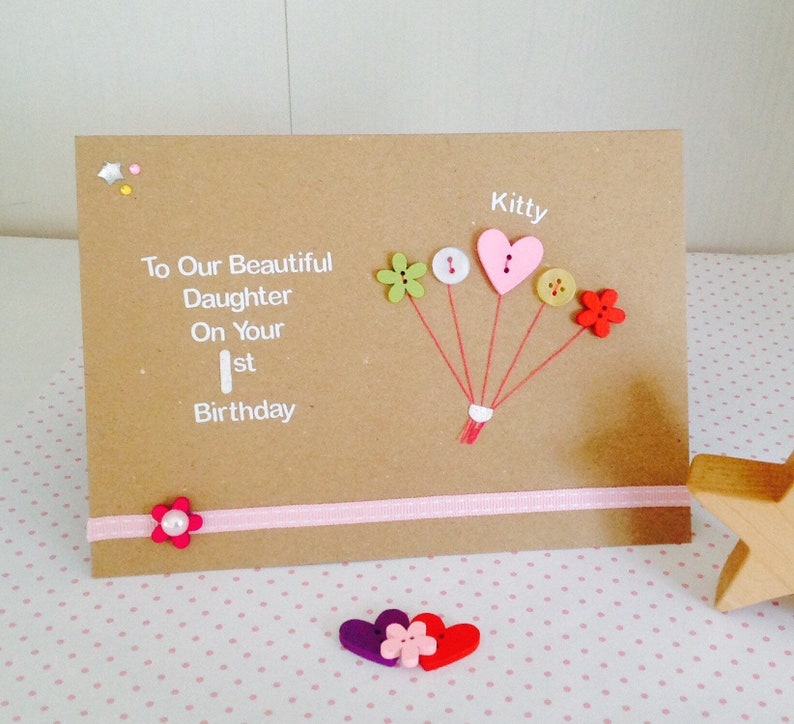 Personalised Handmade 1st 2nd 3rd 4th 5th 6th 7th Birthday