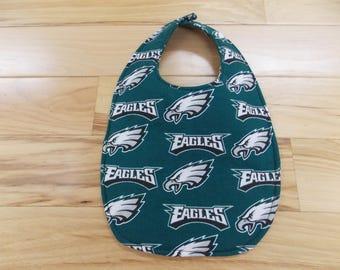 Reversible Philadelphia Eagles Newborn Baby Bib, Philadelphia Eagles Baby Bib
