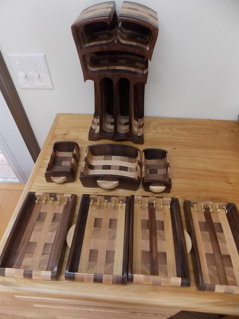 Handmade Large Walnut Wood Jewelry Box Walnut Jewelry Box Women/'s Jewelry Box Bandsaw Box Necklace and Bracelets Girls Jewelry Box