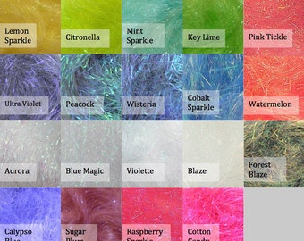 Angelina fibre - Angelina fiber - 19 colors - heat bondable Angelina - wool batts - glitter fibre - glitter - spinning wool