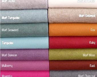 """Wool felt sheets 9""""x12"""" Top quality - PICK ANY COLORS 63 - 7 New Colours! - wool felt blend- wool felt squares - needle felting - craft felt"""