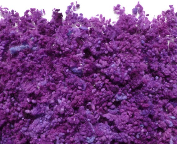 Lilac Hand Dyed Wool Nepps