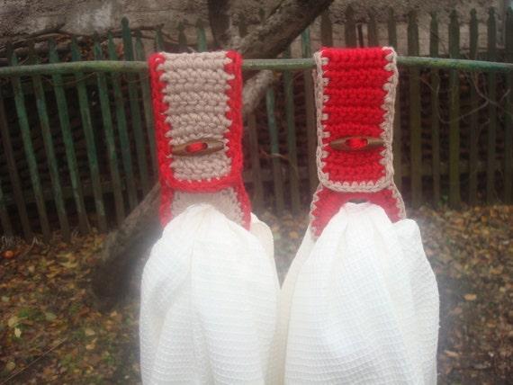 Häkeln Handtuchhalter Mit Handtüchern Set Of2 Häkeln Handtuch Etsy