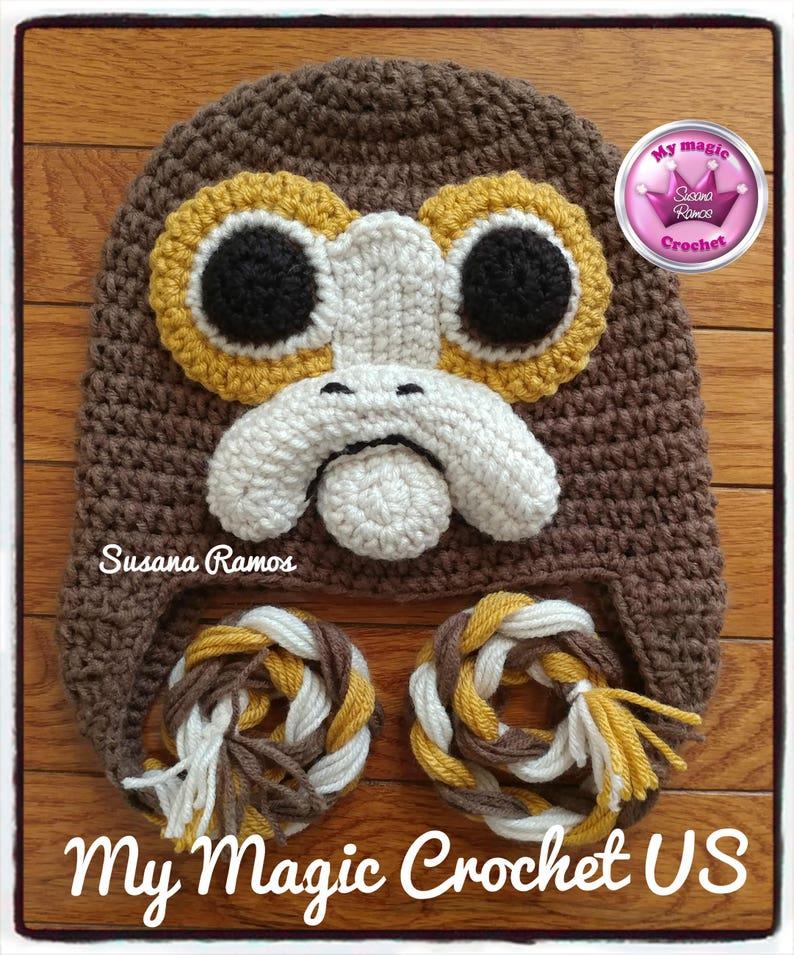 725b9d8c35f Porg Star Wars The last Jedi Crochet Hat Made with
