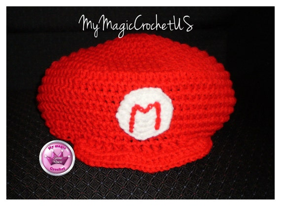 Super Mario Bros Crochet Hat Made with Soft yarn  29adea33957