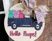 Spring Door Sign, Spring Truck Sign, Peep Sign, Easter Decor, Welcome Easter Sign, Welcome Peep Sign, Spring Door Sign, DIY Sign