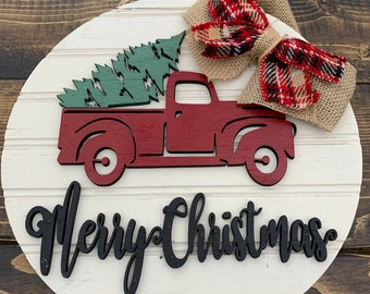 Red Truck Decor Etsy
