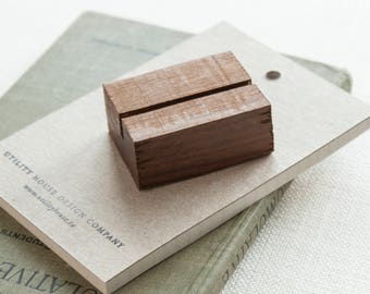 Wood place card holder etsy small wood stand place card business card retail signage holder reheart Choice Image