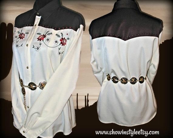 Wrangler Vintage Retro Women's Cowgirl Western Shi