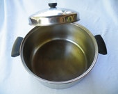 Revere Ware Dutch Oven, Four Quart, Domed Lid, Copper Clad Pot