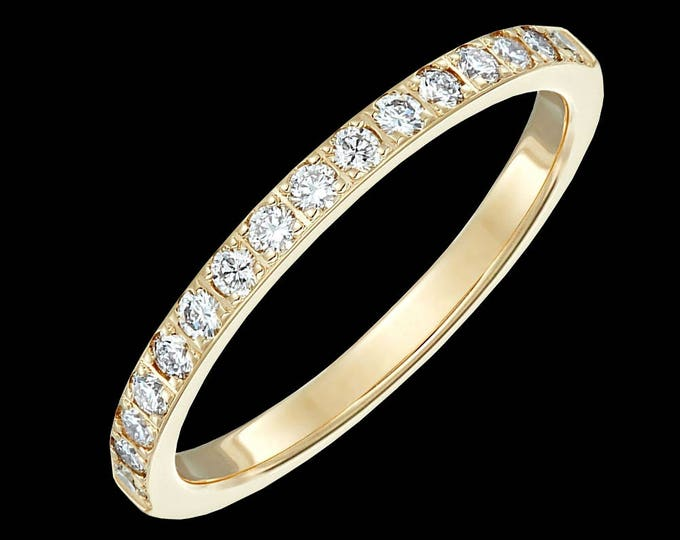 Lewi's diamond wedding ring 14k white or yellow gold, 2mm (1/3 tcw, G-H color, SI1-SI2 clarity).