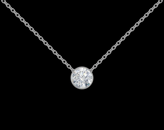 1/2 ct Diamond Necklace in 14k White Gold