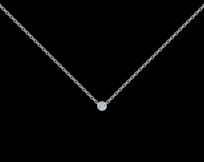 Diamond Necklace in 925 Sterling Silver (.03-ct)
