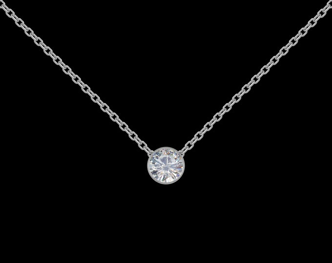 1/4 ct Diamond Necklace in 14k White Gold