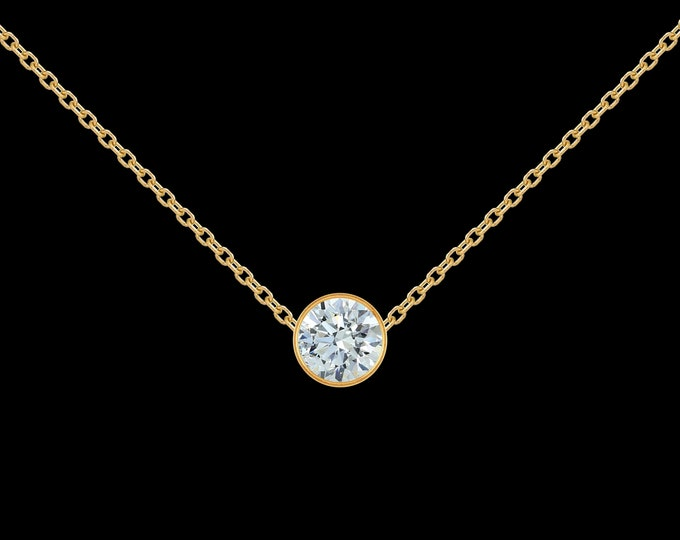 1/2 ct Diamond Necklace in 14k Yellow Gold