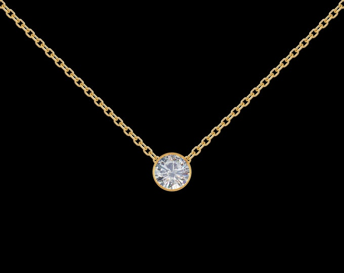1/4 ct Diamond Necklace in 14k Yellow Gold