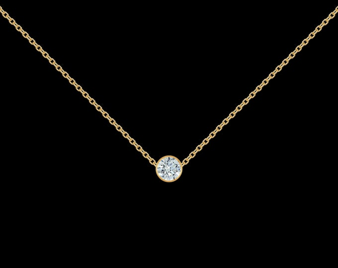 1/8 ct Diamond Necklace in 14k Yellow Gold