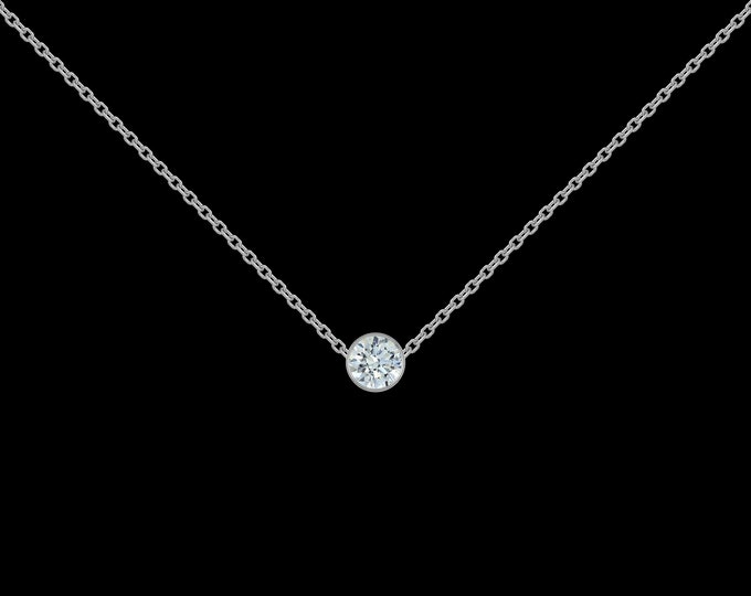 1/8 ct Diamond Necklace in 925 Sterling Silver