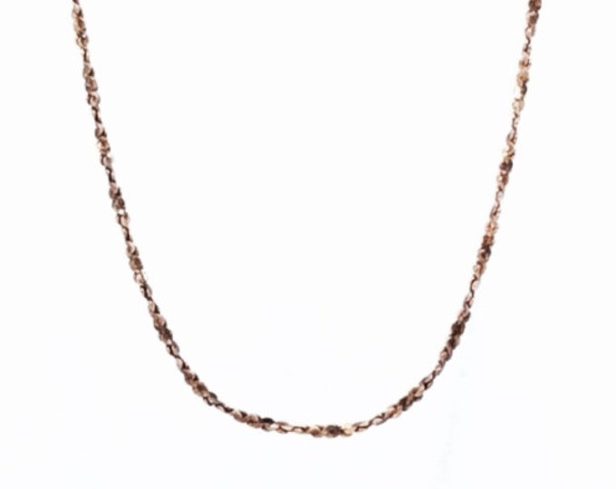"An 18"" Italian Gold Vermeil / Sterling Silver Tinsel Chain Necklace, Spring Clasp, 1.69 Grams #3116"