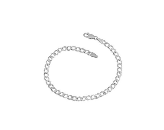 A 14K Custom Solid Gold Curb-Cuban-Link Chain Bracelet - Necklace / 14K Yellow or White Gold, Lobster Clasp, 2.55mm Width #C5