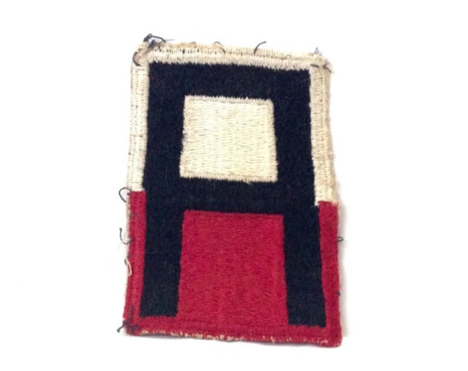 """A Rare-Important First United States Army Mid-Century Military Uniform Patch, 3x2"""", 4.42 Grams #4097"""