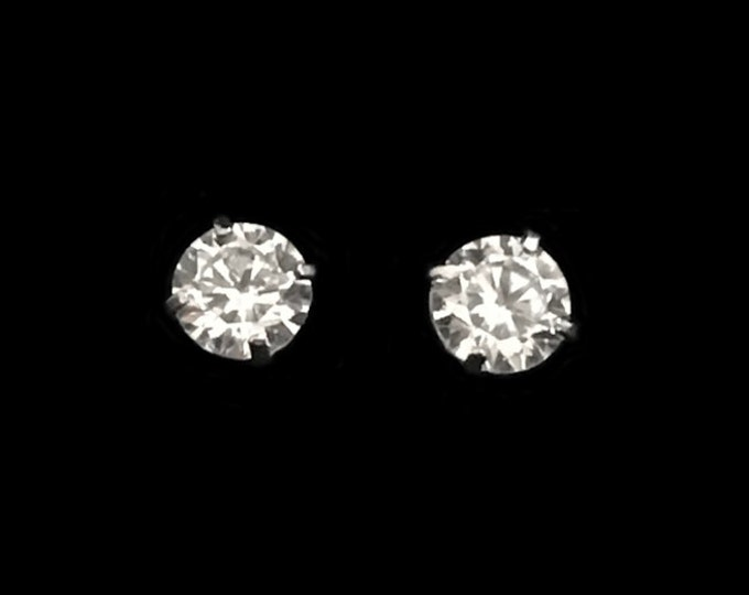 TCW 0.46 Pair of Internally Flawless Round Brilliant Diamond Earrings In 14K White Gold By C. L. Lewis (+GIA Diamond Dossier's) #C53