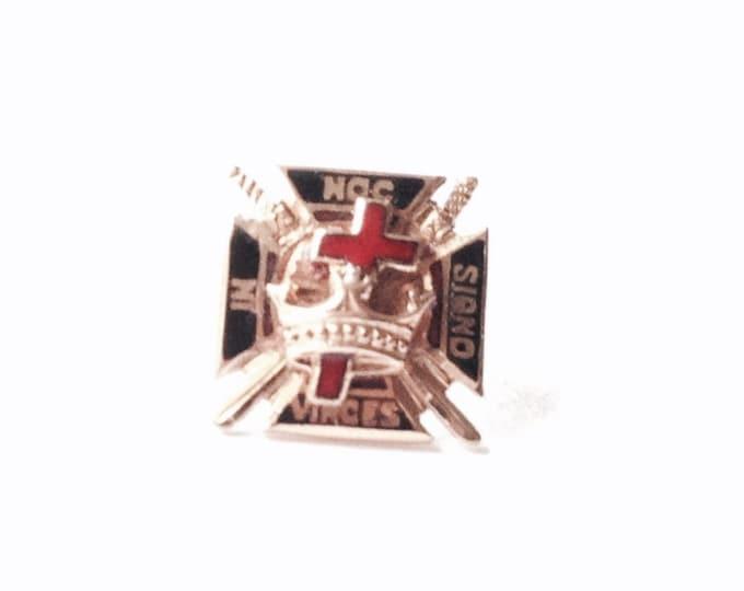 "A Rare Early 14k Yellow Gold & Enamel Scottish Masonic Screw, .25x.25x.25"", .76 Grams #3233"