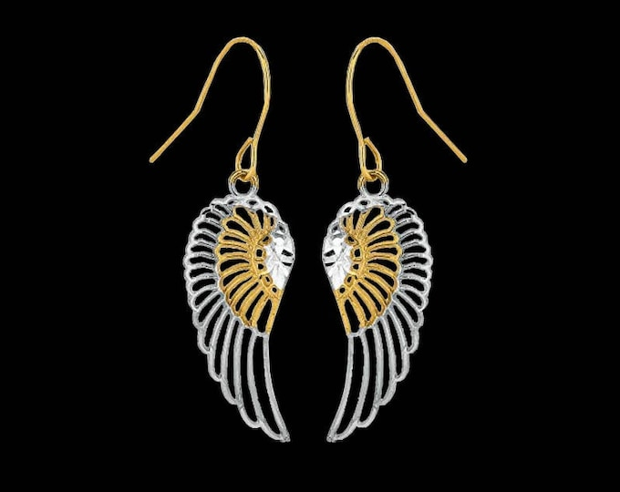 Ailes d'Ange de C.L. Lewis in 10K Solid Two-Tone Gold Threader Earrings #C120