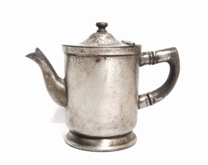 Rare Early 1920's Art Nouveau Grand Silver Co. Wear-Brite Nickel-Silver Cream Pitcher / Needs Cleaning, Weighs 1LB & 2OZ #629