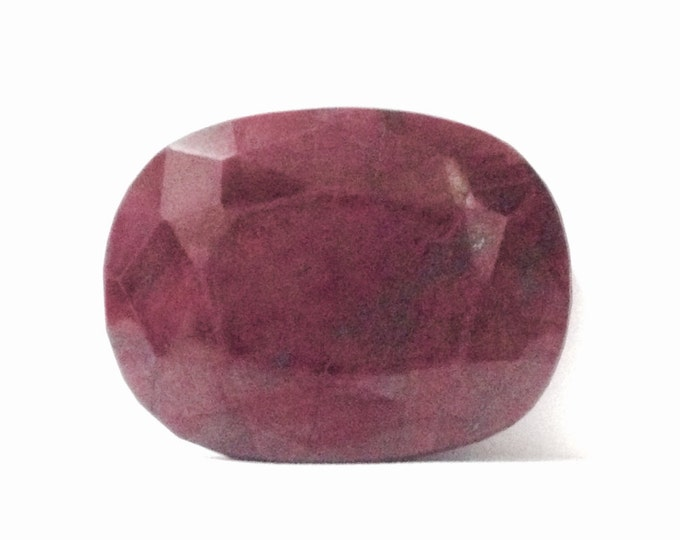 An Incredible Rare 980 CT Natural Dark Blood Red Oval Ruby w/ Earthmined Laboratory Report; Jewelry Craft-Investment Stone, 72x54x29mm #3916