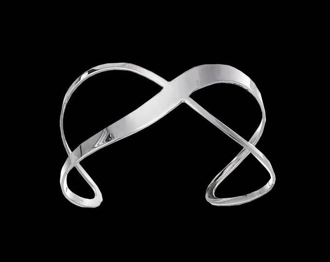 Lemniscate Graffiti Cuff Bracelet in Sterling Silver #C113