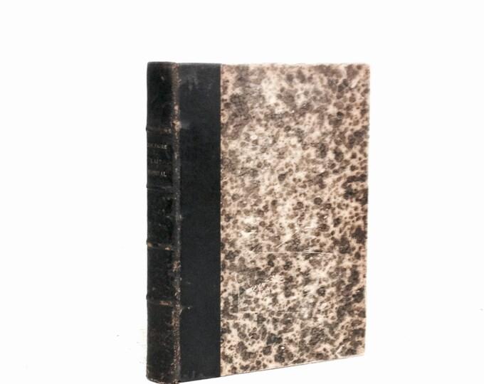 """1911 Histoire de I'Art L'Art Médiéval by élie Faure, éditeur H. Floury, Paris, Premier Edition Marble-Leather Bound 9x6.5x1"""" 2LB 5.1OZ #2371"""