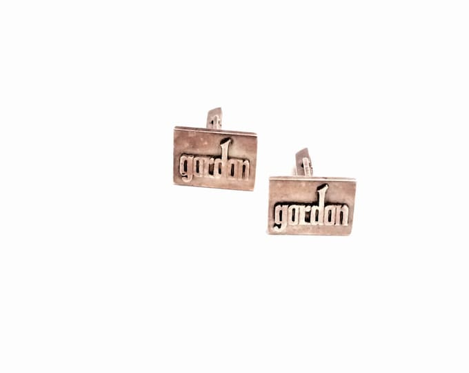 "A Pair of Incredible Heavy Antique Sterling Silver Monogrammed ""GORDON"" Cufflinks, 19.01 Grams, #2811"