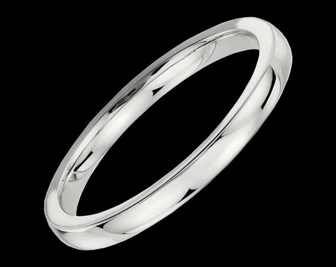 Slender Platinum Reflections In A High Polished Comfort Fit Wedding Band By C. L. Lewis (2MM) #C101