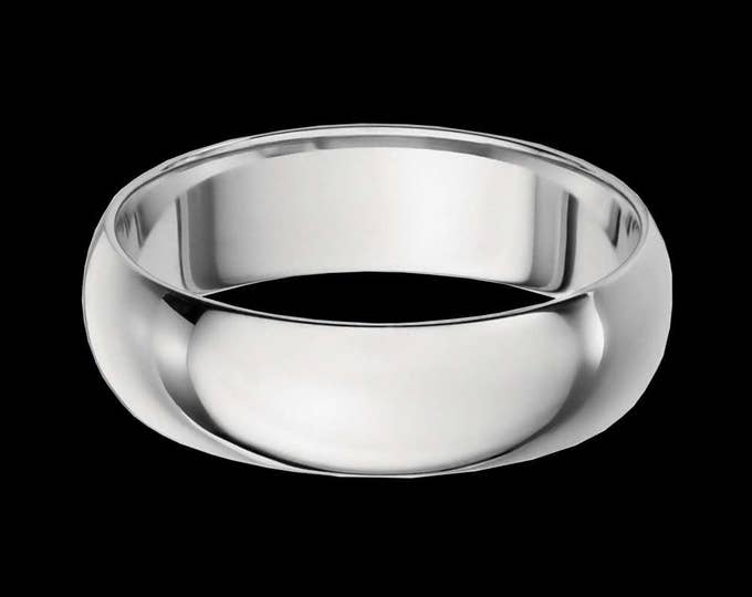 Vast Platinum Reflections In A High Polished Comfort Fit Wedding Band By C. L. Lewis (6MM)  #C106