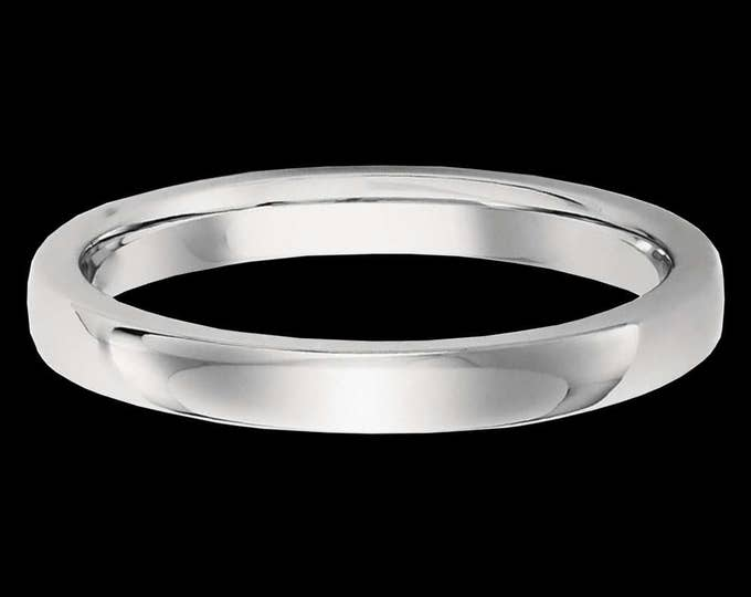 Suave Platinum Reflections In A High Polished Comfort Fit Wedding Band By C. L. Lewis (2.5MM) #C102