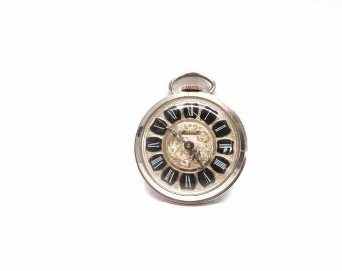 "A Rare 1930-40's Art Nouvea Jean Marcel Designer Pocket Watch, Not Functional/For Restoration, 1.75x2x.25"" #1853"