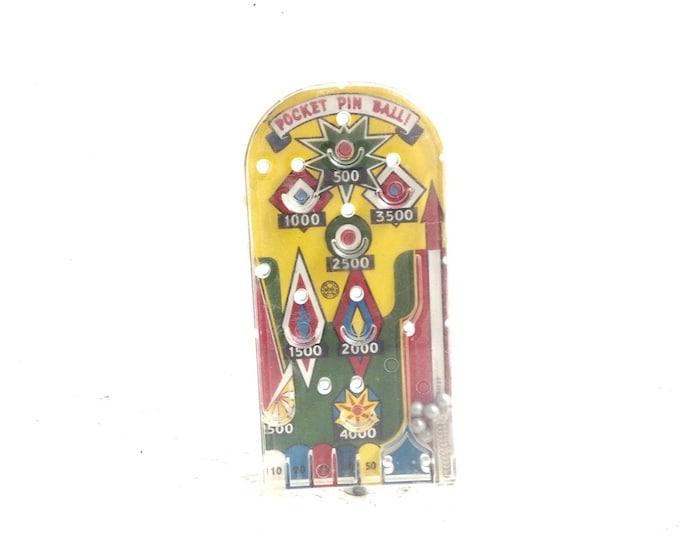 "Marx Toys Vintage Pocket Pin Ball Machine Pat #2634129 Functional Rare Original 1950's Toy, Comes w/ paper Copy of Patent. 1.9OZ 6x3x1"" #868"