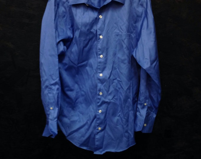 Handsome Men Blue Dress Shirt, Kenneth Cole Blue Men's Blouse, Size 32/33 , 100% Cotton, #2309