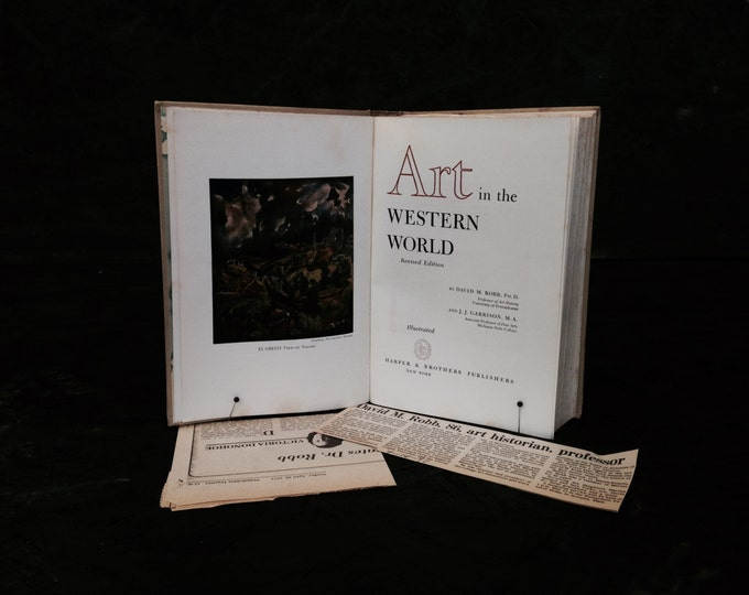 """Art in the Western World, revised edition by David R. Robb and J.J. Garriso, Harper & Brothers Publishers 3lb 9x6x2"""" #2232"""