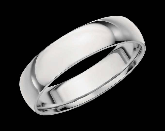 Sleek Platinum Reflections In A High Polished Comfort Fit Wedding Band By C. L. Lewis (5MM)  #C105
