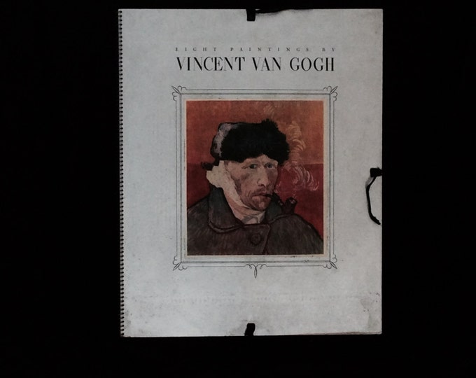 Eight Painting By Vincent Vangogh A portfolio of prints by Jerome Klein & The AWG, 1937 First Edition In Pristine Condition, 25x20x.25 #2597