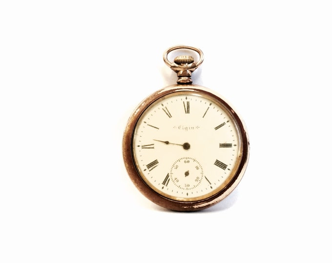 A Rare 19th Century Elgin 7 Jeweled Pocket Watch, Grade 211, Size 16S, Not Functioning/For Restoration, Serial#8906821, 94.73g #1850